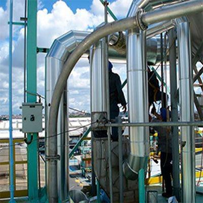 Isolamento térmico tubulações industriais
